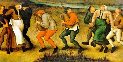 ?Pilgrimage of the Epileptics to the Church at Molenbeek? | ?Dancing Mania? | ?The dance at Molenbeek? Pieter Breughel the Younger, painting.